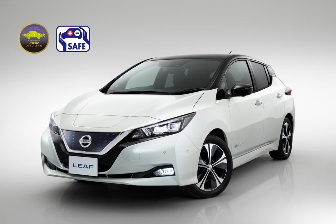 El nuevo Nissan LEAF obtiene una calificación de cinco estrella