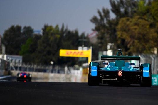 | Driver: Tom Blomqvist| Team: MS & AD Andretti| Number: 27| Car: ATEC-03|| Driver: Antonio Felix da Costa| Team: MS & AD Andretti| Number: 28| Car: ATEC-03|| Photographer: Lou Johnson| Event: Mexico City ePrix| Circuit: Autodromo Hermanos Rodriguez| Location: Mexico City| Series: FIA Formula E| Season: 2017-2018| Country: Mexico|| Session: FP1|