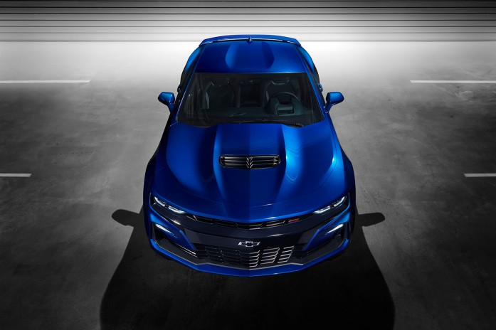 2019 Camaro's grille details and hood and fascia vents were designed for optimized air flow, either to cool components or help minimize drag or lift.