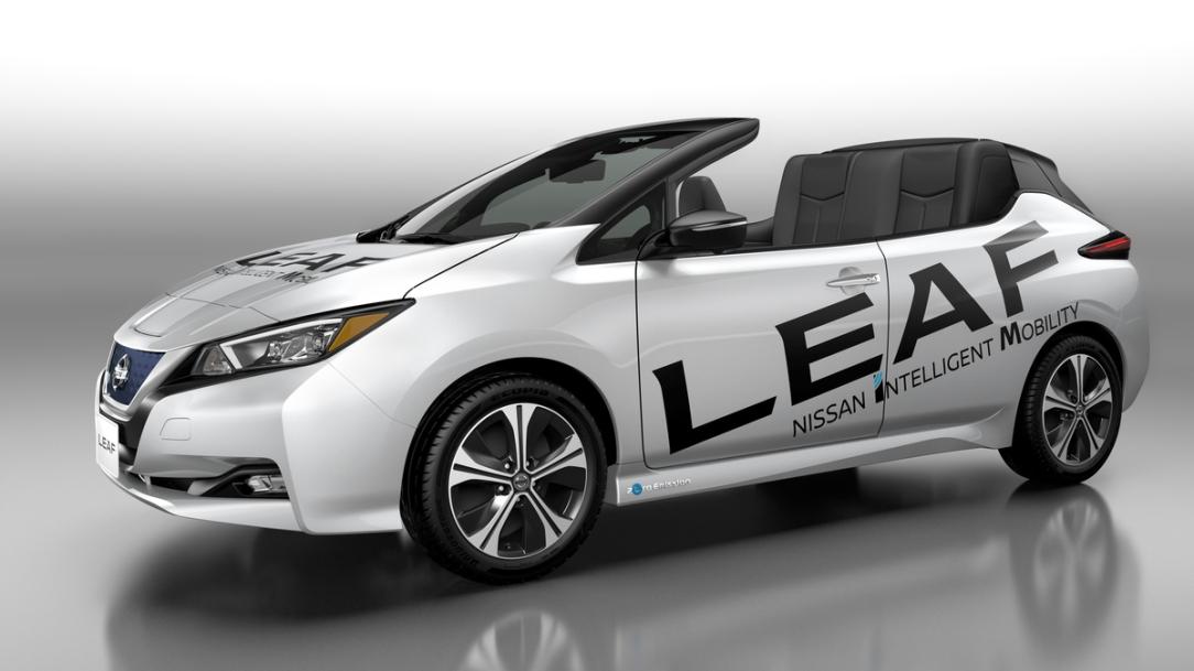 Nissan presenta una versión descapotable del nuevo Nissan LEAF