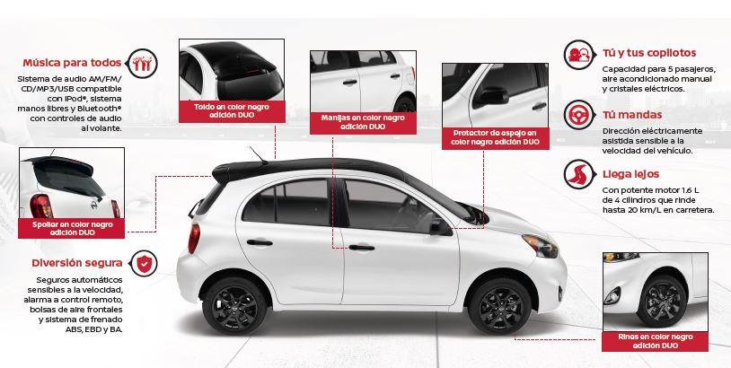 Nissan March Duo: una edición especial del hatchback de entrada