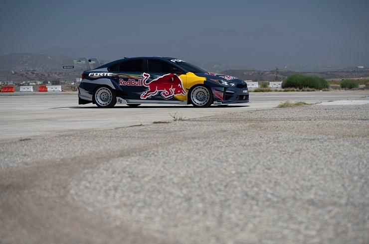 Kia Forte Red Bull Drift Car