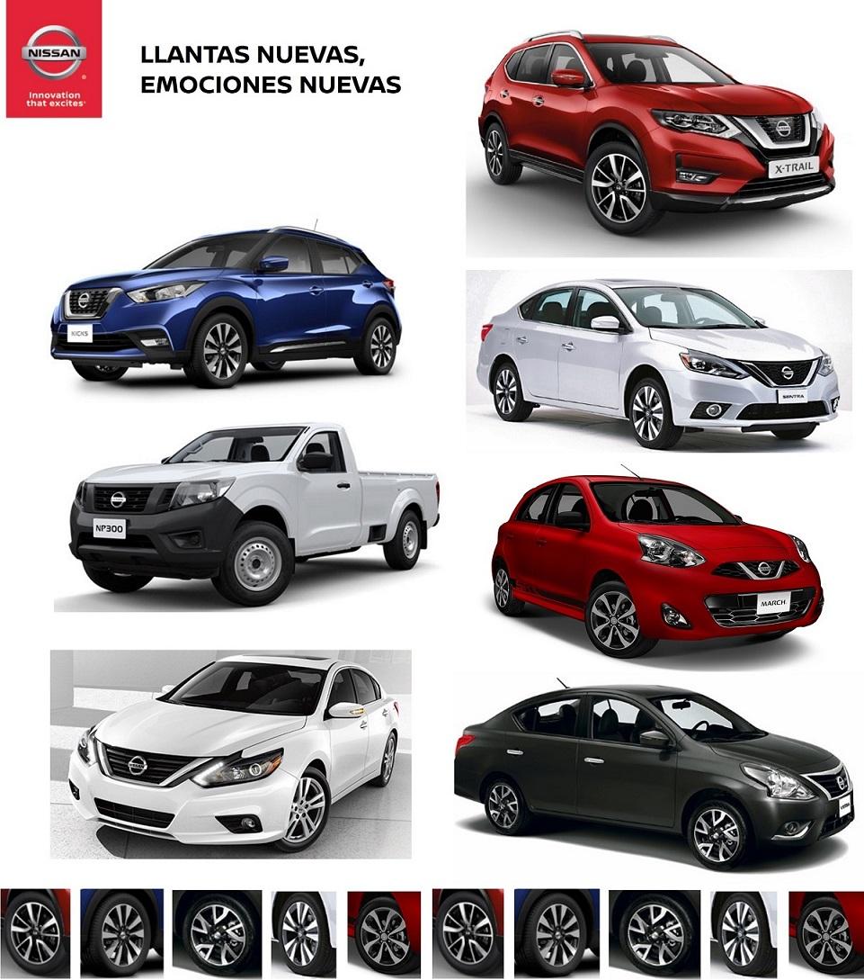 Nissan amplía su oferta de llantas para todos sus modelos a lo