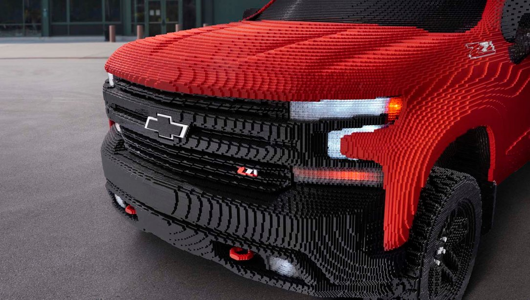 Chevrolet revealed the first-ever full-size LEGO® Silverado at