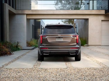 The Cadillac XT6 Premium Luxury model features unique front and rear fascias with red taillight lenses.