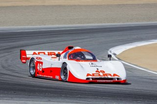 Parker Johnstone in the Spice Acura at the Monterey Motorsports Reunion 2015