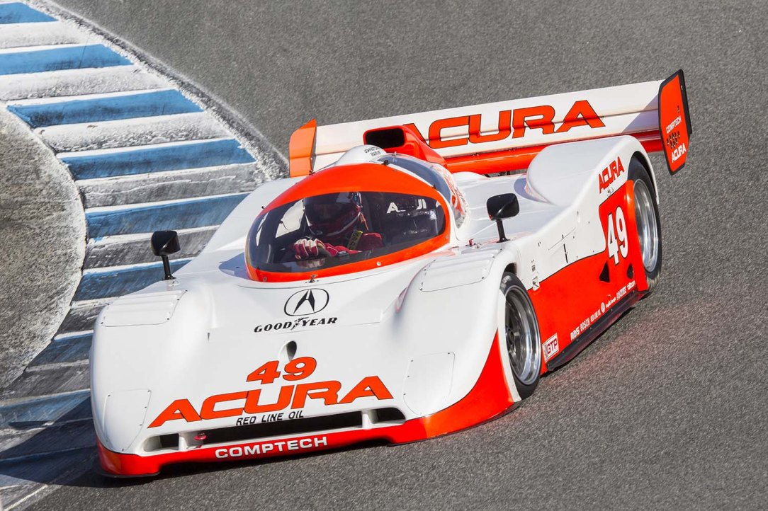 Parker Johnstone in the Spice Acura at the Monterey Motorsports