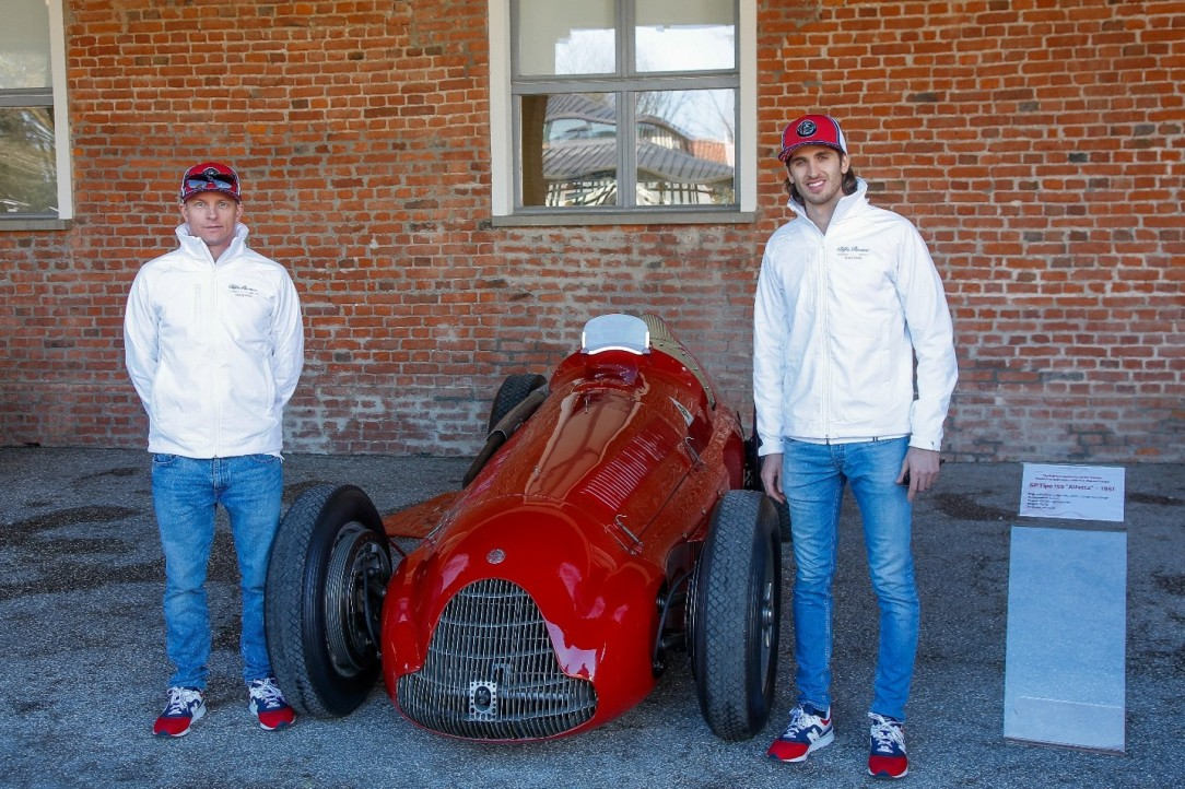 Raikkonnen Giovinazzi_Balocco_Alfa Romeo Racing