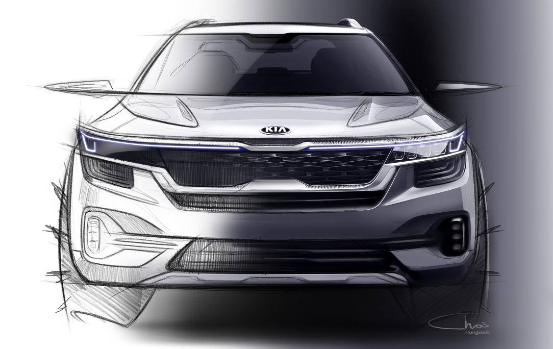 Kia reveals first image of new small SUV_2