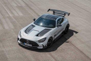 Mercedes-AMG GT Black Series (Kraftstoffverbrauch kombiniert: 12,8 l/100 km, CO2-Emissionen kombiniert: 292 g/km), 2020, Exterieur, front, hightechsilber Mercedes-AMG GT Black Series (combined fuel consumption: 12,8 l/100 km, combined CO2 emissions: 292 g/km), 2020, Exterieur, front, hightechsilver