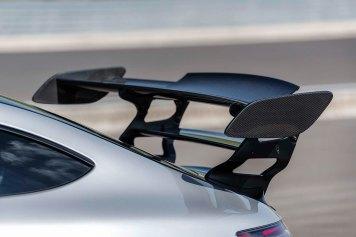 Mercedes-AMG GT Black Series (Kraftstoffverbrauch kombiniert: 12,8 l/100 km, CO2-Emissionen kombiniert: 292 g/km), 2020, Exterieur, doppelter Heckflügel, Aerodynamik Mercedes-AMG GT Black Series (combined fuel consumption: 12,8 l/100 km, combined CO2 emissions: 292 g/km), 2020, Exterieur, double rear wing, aerodynamics