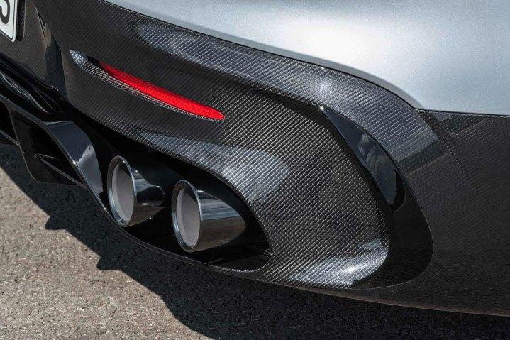 Mercedes-AMG GT Black Series (Kraftstoffverbrauch kombiniert: 12,8 l/100 km, CO2-Emissionen kombiniert: 292 g/km), 2020, Exterieur, Heck, Abgasanlage Mercedes-AMG GT Black Series (combined fuel consumption: 12,8 l/100 km, combined CO2 emissions: 292 g/km), 2020, Exterieur, rear, exhaust system