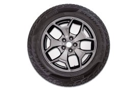 Bronco Sport Badlands comes standard with 17-inch Carbonized Gray-painted aluminum wheels.