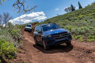 Mercedes-Benz GLS 580 4MATIC Offroad Experience, selenitgrau metallic;Kraftstoffverbrauch kombiniert: 10,1-9,8 l/100 km; CO2-Emissionen kombiniert: 230-223 g/km* (vorläufige Werte) Mercedes-Benz GLS 580 4MATIC Offroad Experience, selenite grey metallic;Fuel consumption combined: 10.1-9.8 l/100 km; combined CO2 emissions: 230-223 g/km* (provisional figures)