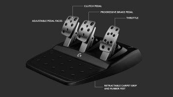 Logitech G923-pedales